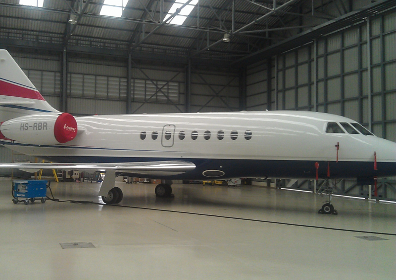 Plane in the AAS Hangar @  Don Muang International Airport